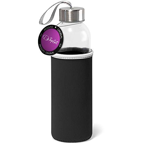 Garrafa de Vidro 520 ml Soft TopGet Preto