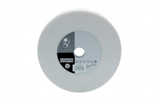 1 Stück ATLAS Schleifscheibe 250 x 25 mm Korn 46 Edelkorund weiß