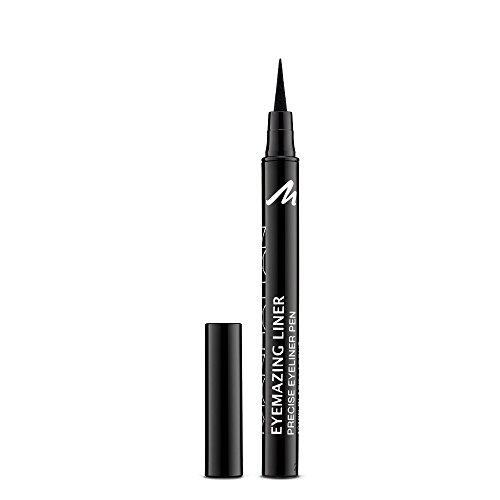 Manhattan Eyemazing Liner – Schwarzer Filz-Eyeliner für perfektes Auftragen – Farbe Black Lacque 1010N – 1 x 1,2ml