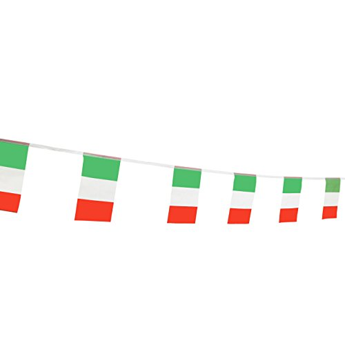 TSMD Italy Flag, 100 Feet Italian Flag National Country World Flags Banner,Party Decorations for Grand Opening,Olympics,World Cup,School Sports Events,Bar,International Festival(8.2 x 5.5