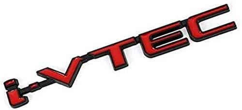 YDL Pegatinas 3D VTEC Logo Metal Emblem Insignias Calcomanías Etiqueta Engomada del Coche para Civic Accord Odyssey Espiral CRV SUV City CB400 I-VTEC VFR800 CB750 (Size : F)