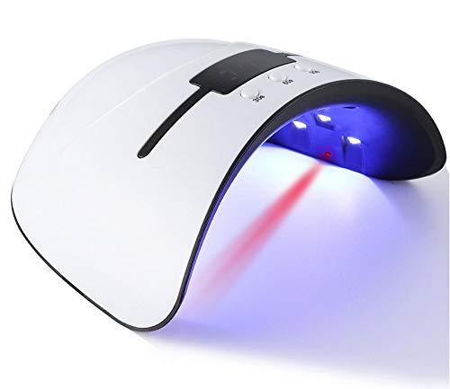 Manicura y pedicura LED UV lámpara de uñas de gel profesional secador de uñas UV LED luz 3 tiempo preajustes 30s, 60s, 99s + Smart Auto-Sensing Fast Curing con gran pantalla LCD temporizador