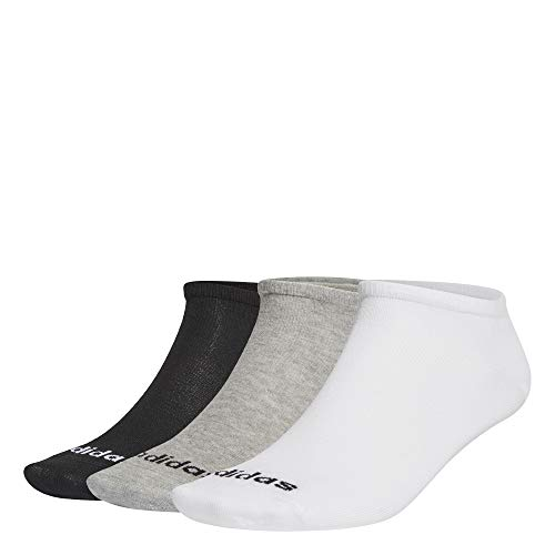 adidas Low Cut 3PP Calcetines, Unisex Adulto, brgrin/Blanco/Negro, M