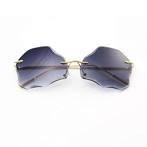 Liuao 2019 Neue rahmenlose Wolke Sonnenbrille trimmen Sonnenbrille Trend von Sonnenbrille weiblich männlich Eyewear uv400,Style 4