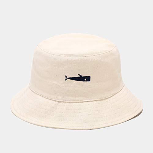 SombreroDePescador,Moda Unisex Protector Solar Cubo Sombrero De Pescado Bordado Comodidad Plegable Cuatro Estaciones Vacaciones Personalidad De Ocio Simple Beige Navidad San Valentín Cumpleaño