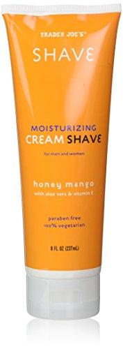 (2 Pack) Trader Joe's Honey Mango Moisturizing Shave Cream with Aloe Vera and Vitamin E for Men and Women