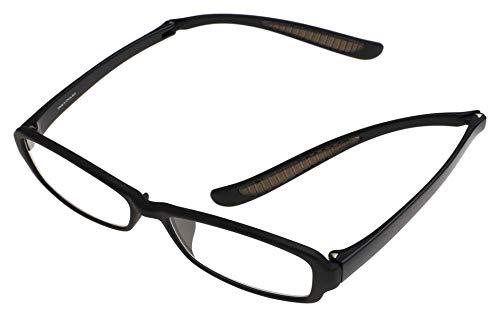 首掛け老眼鏡 lente(レンテ)リーディンググラス 折りたたみ式 マットブラック +3.00 LT-5214-1_+3.0