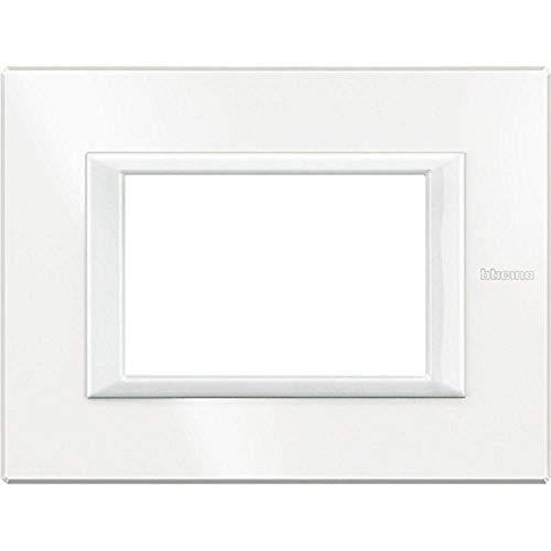 BTicino HA4803HD Axolute Placca Rettangolare, 3 Moduli, Bianco