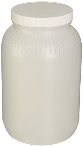 JG Finneran 9-206B HDPE Standard Wide Mouth Jar with White Polypropylene Closure and F217 Lined, 110-400mm Cap Size, 4000mL Capacity (Pack of 12)