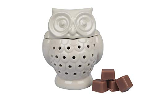 Deco Electric Owl Candle Warmer, Wax & Tart Warmer for Indoor Decor, Includes 4 Wax Cubes and...