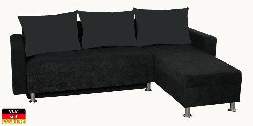 VCM Ecksofa Sofa Couch Rock MF 85 x 222 x 72 cm Schaumstoff / Microfaser