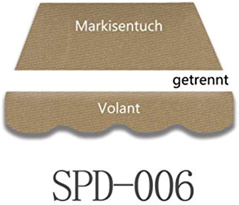 Vana deutschland GmbH Markisenstoff Markisenbespannung Ersatzstoff mit Volant fertig genht 4m x3m (SPD006)