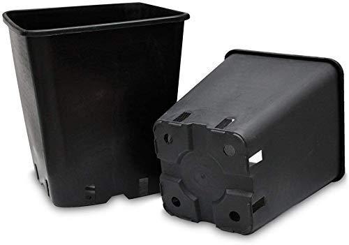 AlmaStore 10 Pezzi - Vaso Quadro VIVAIO per ORTO Giardino- Misure 15 18 22 cm - VASI Quadrati (22 X 22 X 26 CM (11 LT))