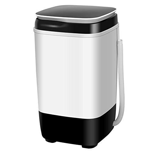 FDY Mini Lavadora Pequeña Uso Doméstico Lavandería Lavado De Calzado Y Desagüe Máquina Tres En Uno Uso En Apartamentos Dormitorio,Apto para Solteros,Black and White