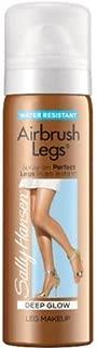 Sally Hansen Airbrush Legs Spray Leg Instant Tan Makeup ~ Deep Glow ~ Travel Size 1.5oz (Quantity 1)