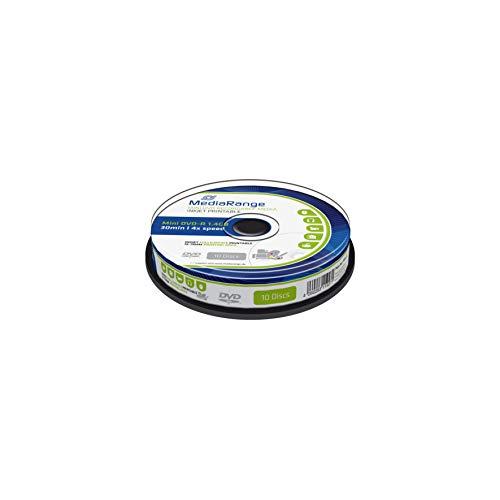 MediaRange MR430 mini Inkjet Full Printable DVD-R Rohlinge (1,4GB, 10-er Spindel)