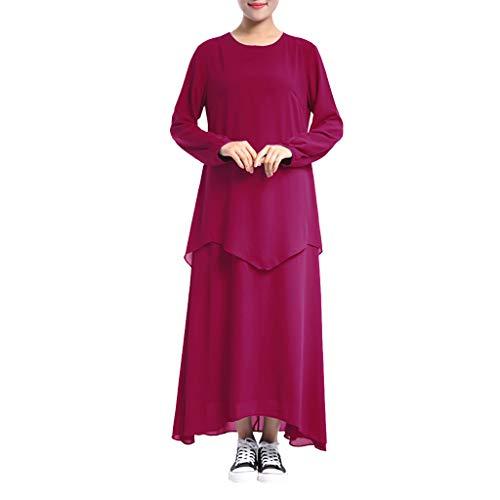 MERICAL Ropa para Mujeres Musulmanas Vestido de Dos Piezas Falso de Gran tamaño Batas Hui Elegante y Generoso Encantador Largo Ropa