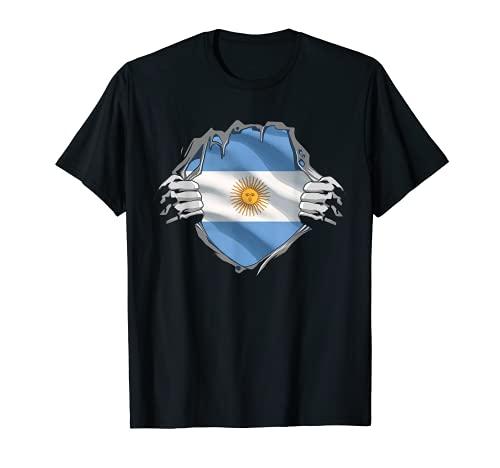 Bandera de Raíces Argentina de Super Herencia Argentina Camiseta