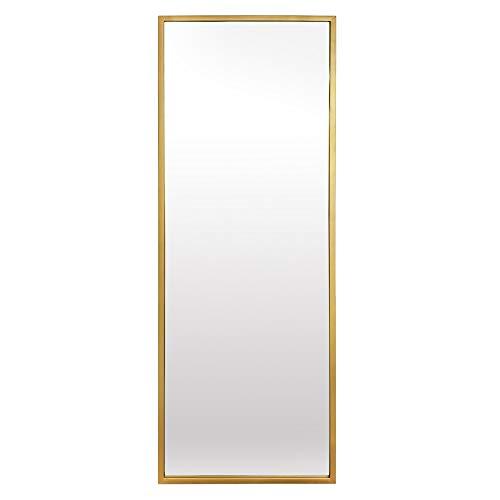 Elegance by Casa Chic - Metalen wandspiegel (passpiegel) - rechthoekig 130x45 cm - Electrogeplateerd metaal - Goud