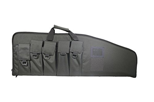 """ARMYCAMOUSA Rifle Bag Outdoor Tactical Carbine Cases Water dust Resistant Long Gun Case Bag with Five Magazine Pouches for Hunting Shooting Range Sports Storage and Transport (42"""" Grey)"""