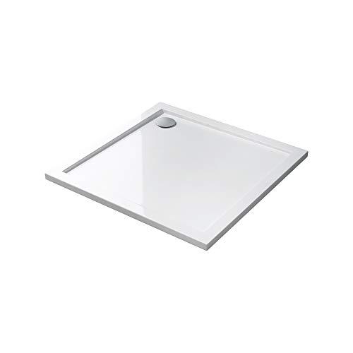 Duschwanne Duschtasse Faro in weiß, Form: Quadratisch, BTH: 80x80x4cm, Material: Acryl