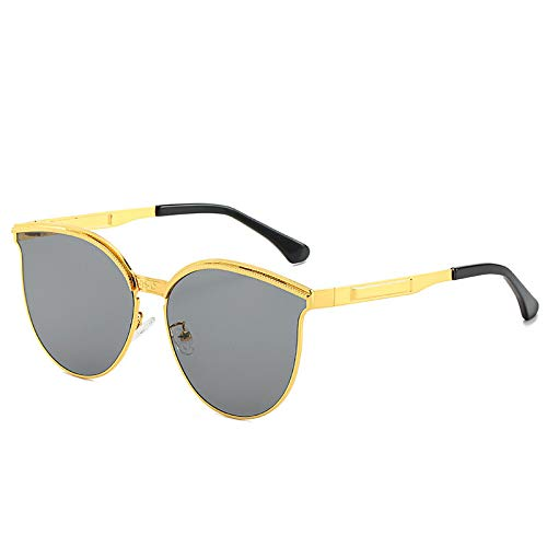 HYwang Gafas De Sol Gafas De Sol De Moda Hombres Y Mujeres Gafas De Metal Gafas De Sol Con Protección Uv