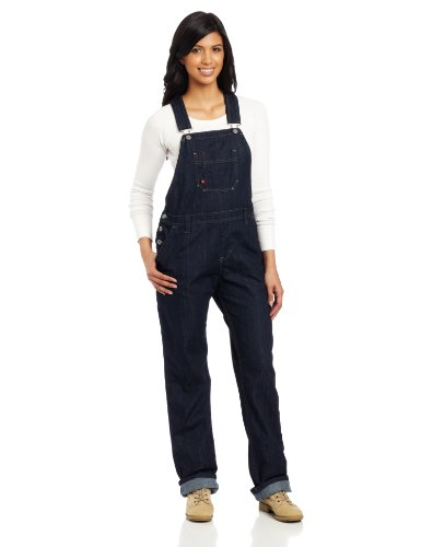 Dickies Women\'s Denim Bib Overall 100{546cf0413ca37b70f0ce67d4e0b6f6b393b8241ddd3bff8415404f744bbbe769} Cotton Blue Denim with ScuffGard
