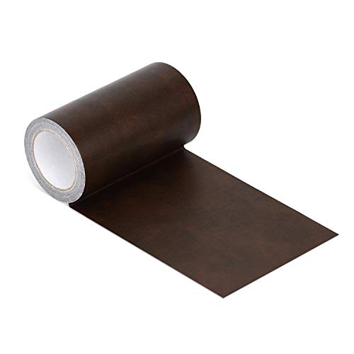 Azobur Leather Repair Tape Patch Leather Adhesive for Sofas, Car Seats, Handbags, Jackets,First Aid Patch (Brown Leather)