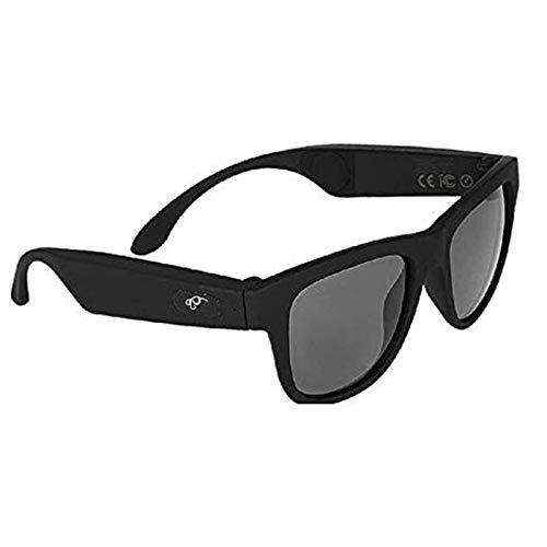 NBZH Bone Conduction Kopfhörer Gläser, Auto, Sport Polarisierte Sonnenbrille Stereo Musik Wireless Bluetooth Wasserdicht Headset Mit Mikrofon Hand-Free Kompatibel Mit IOS/Android,Black