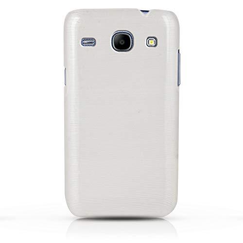 WOW Imagine Premium Marbello Finish Ultra Thin Hard Case Back Cover for Samsung Galaxy Core i8262 (White)