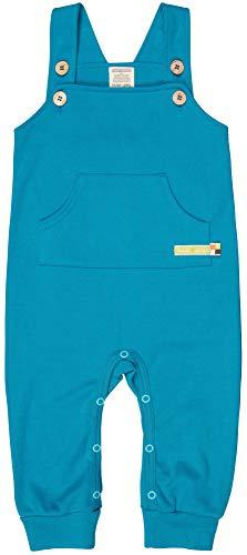 loud + proud Baby-Unisex Bio Baumwolle, GOTS Zertifiziert Latzhose, Blau (Petrol Pe), (Herstellergröße: 74/80)