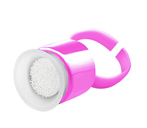 20 Stück Schwamm Ringe Tätowierpigment Halte Tattoo Tinte Ring Tassen Tattoo Kunststoff Einweg Pigment Ringe Cups für Microblading Einzeln verpackt (Rose)