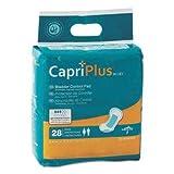 Medline Capri Plus Bladder Control Pads, Extra Plus, 6 1/2' X 13 1/2', 28/Pack