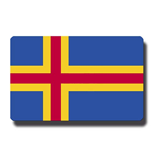 Kühlschrankmagnet Flagge Aland - 85x55 mm - Metall Magnet mit Motiv Länderflagge