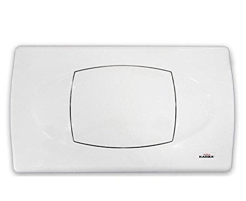 KARIBA Serie 306100 Biblo Placca Comando Mono Pulsante Bianco