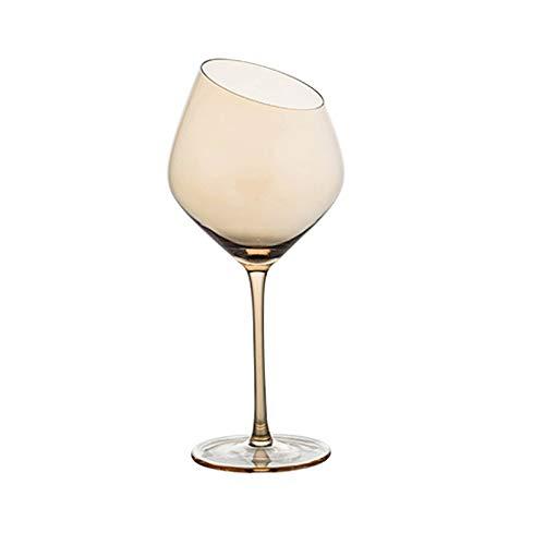 Sektgläser Beiläufig Kegel-Rotwein-Glas-500ml Champagner-Glas-Cocktail-Glas-Kristallglas-Stemware-Glas-Haushalt 8.5x24cm Lostgaming (Color : A)