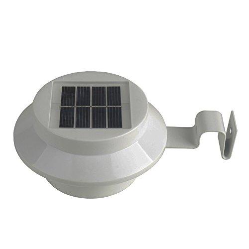 Sans fil lumière lampe solaire, étanche lumière de clôture solaire, lumière de Sécurité pour jardin, extérieur, terrasse, maison, Escaliers, Lumière blanche - 1 pièce