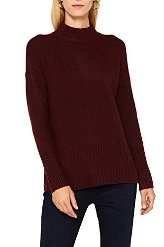 ESPRIT Damen 099EE1I030 Pullover, Rot (Bordeaux Red 5 604), X-Small (Herstellergröße: XS)