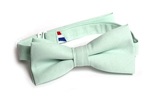Générique Noeud Papillon Enfant Uni Aspect Coton Mat (Vert eau)