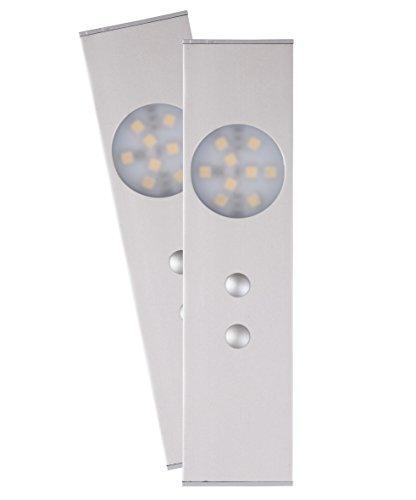 Smartlights 2x LED Unterbauleuchten mit Bewegunssensor 6 Watt, 2 x 110 Lumen, warm weiß, 7000.054