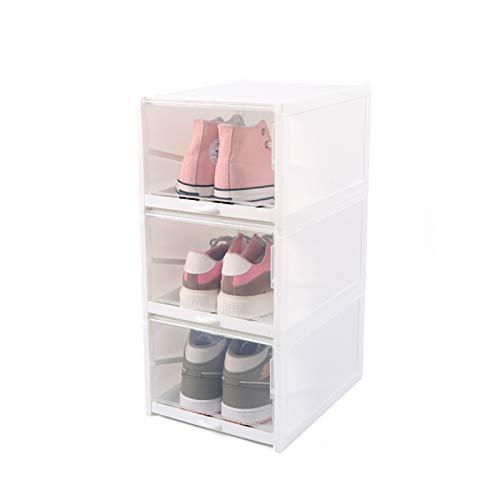 Caja de zapatos transparente gruesa de concha caja de almacenamiento de cajones gabinete de almacenamiento de zapatos caja de almacenamiento zapatos de almacenamiento transparente caja ,322*235*141mm