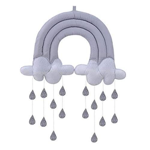 NaiCasy Decoración de la Pared de Nubes Gotas de Lluvia Nube Juguetes Rellenos DIY 3D para la Sala de niños Carpa Regalos Colgantes Colgante Fotografía Atrezzo