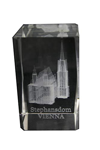 Stephansdom Viena - Figura decorativa de cristal en 3D (tamaño XL, en...