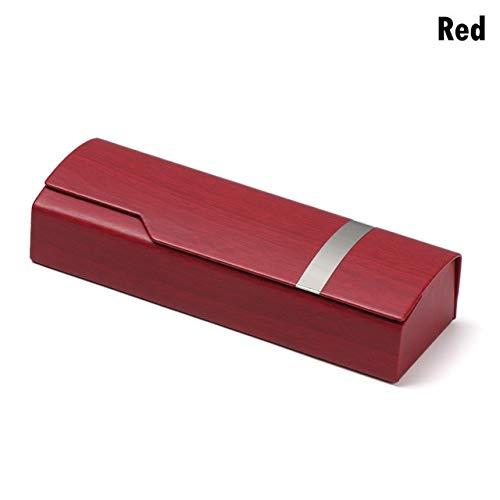 1PC Unisex Caja de Gafas Portátiles Moda Rectángulo Lentes de Lectura Gafas de Sol Estuche Protector Protector de Gafas - Rojo