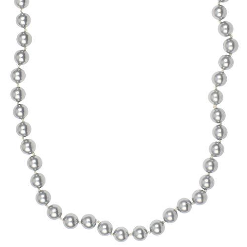 Pfeffinger Perlenkette echt 585er Gold mit Muschelkern-Perlen 45 cm lang Damen Halskette