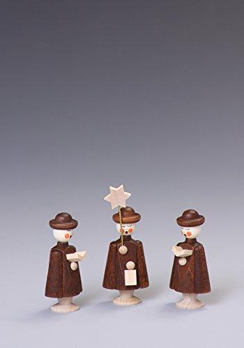 Rudolphs Schatzkiste Tischdeko Kurrendefiguren 3 Figuren Natur Höhe ca 5 cm NEU Kurrende Kirche Weihnachten singen Sänger Sternträger Seiffen Erzgebirge Gotteshaus