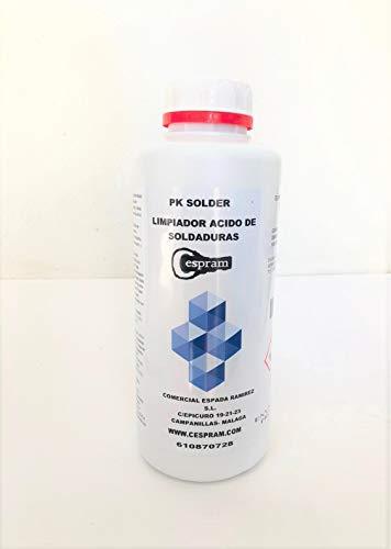 CESPRAM, Eliminador y limpiador de manchas de soldadura en acero inoxidable. PK Solder. Envase de 1 litro.