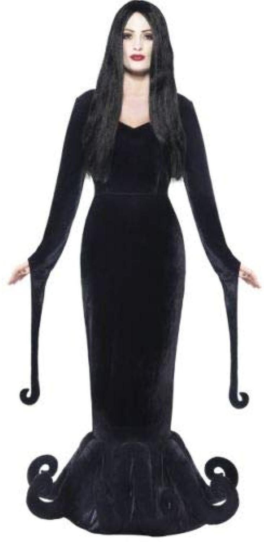 B-kreative Frauen Herzogin des Schlosses Adams Familie Morticia Fancy Kleid Halloween (MEDIUM UK 8-10)