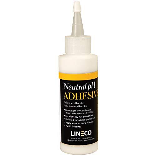 Lineco Neutral pH Adhesive, Acid-Free Dries Clear and Quick PVA Formula...