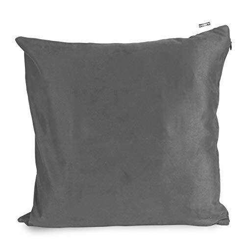 Comfy Massagekissen mit Wärmefunktion | Farbe Grau | Mit Akku | Aufladbar | 40 x 40 cm | Entspannt Rücken, Nacken, Schultern & Füße